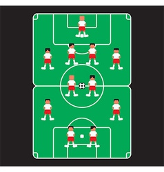 Sports field design vector