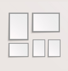 3d picture or photo frame design vector image