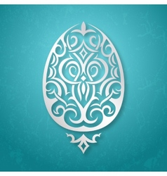 Greeting card withornamental easter egg vector