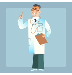 Good doctor physician in a white coat vector