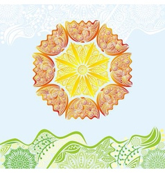 Nature pattern background beautiful sun vector