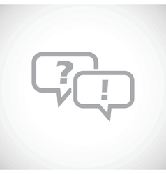 Answering question icon vector