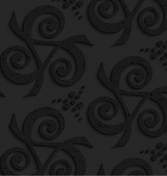 Black textured plastic spirals forming triangles vector