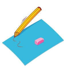 Pencil paper eraser vector