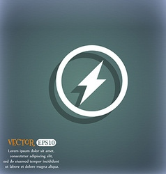 Photo flash sign icon lightning symbol on the vector