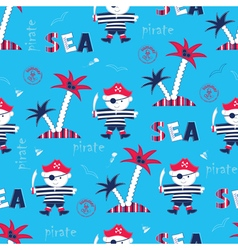 Seamless pattern with pirate vector