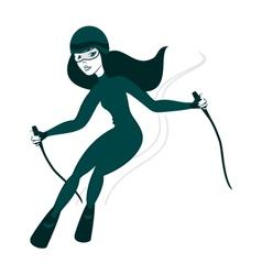 Girl Sking vector image