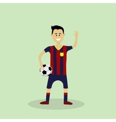 Soccer player in club uniform vector
