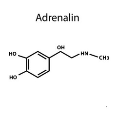 Adrenaline is a hormone chemical formula vector