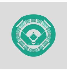 Baseball stadium icon vector