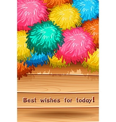 Best wish vector image vector image