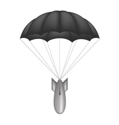 Bomb at black parachute vector
