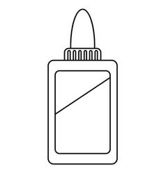 bottle glue school line vector image vector image