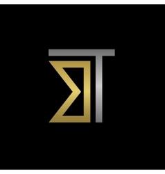 Bt letters logo vector