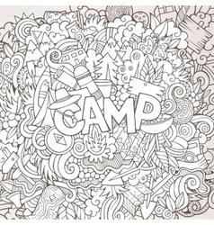 Cartoon sketchy cute doodles hand drawn vector image