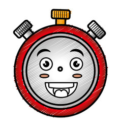 Chronometer timer kawaii character vector