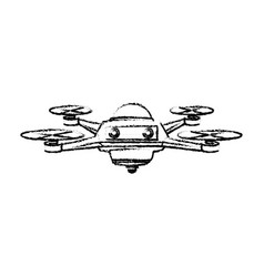 Drone aircraft propeller copter technology front vector