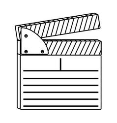 Figure clapper board icon vector