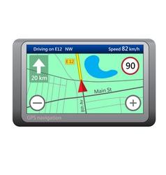GPS navigation device vector image vector image