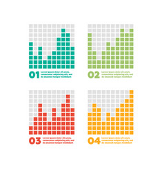 infographics elements progress bar vector image vector image