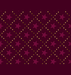 luxury red star vintage style seamless pattern vector image vector image
