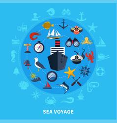 nautical concept vector image vector image
