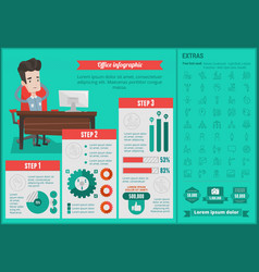 Office infographic template vector