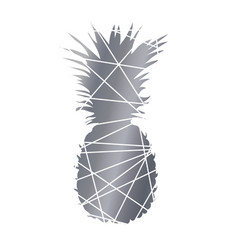 Pineapple black and white abstract pineapple vector