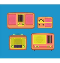 Retro technology vector image
