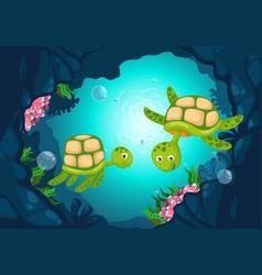 Sea underwater background vector