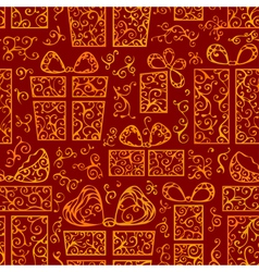 Seamless festive pattern vector image