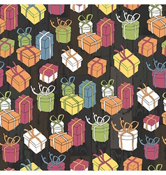 seamless gifts pattern vector image vector image