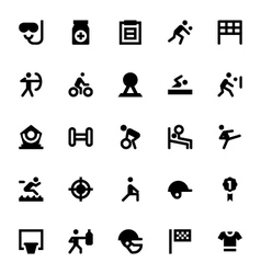 Sports and games icons 3 vector
