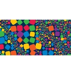 Square rainbow colorful geometrical abstract vector