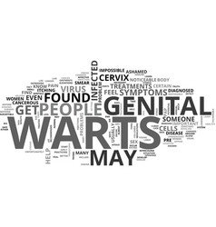 what are the symptoms and treatments for genital vector image vector image