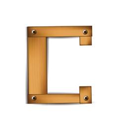 wooden type c vector image