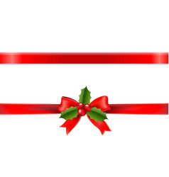 Xmas ribbon vector
