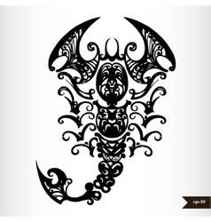 Zodiac signs black and white - scorpio vector