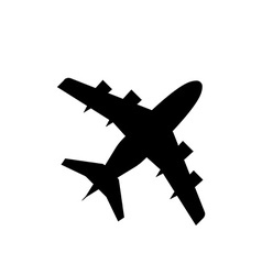 Airplane trendy icon silhouette plane vector