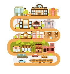 City infrastructure and all the urban buildings vector
