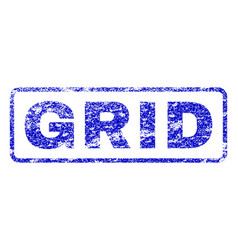grid rubber stamp vector image