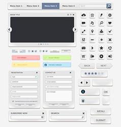 Web design elements set2 vector