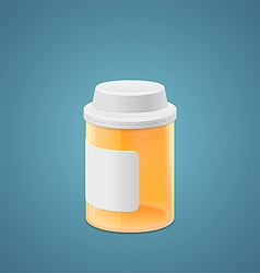 Empty plastic jar vector image