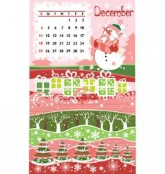 Calendar december vector