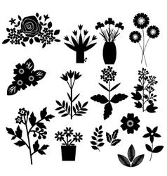 Flowers set vector image