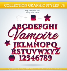 Vampire graphic styles for design use for decor vector