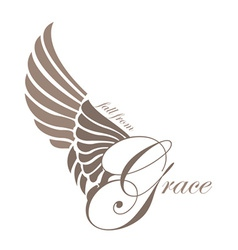 Grace wings design elements vector