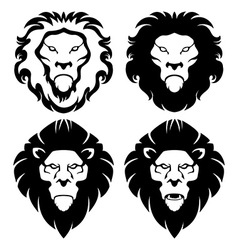 Lion face emblem vector