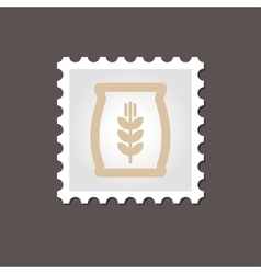 Sack of grain stamp outline vector