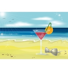 Summer holidays beach photo realistic vector